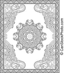 unique coloring book square page for adults - floral ...