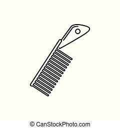 Unique Comb Thin Line Icon Illustration Design