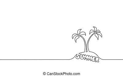 palmier contour une outline t noix coco travel vacances paume paysage silhouette. Black Bedroom Furniture Sets. Home Design Ideas
