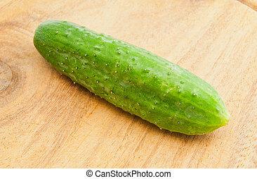 unique, découpage, concombre, planche
