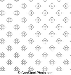 Unique digital flowers seamless pattern with various icons and symbols on white background flat vector illustration