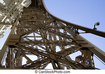 unique, eiffel, copie exacte, perspective, tour