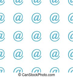 Unique Email seamless pattern