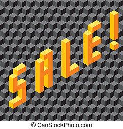 unique, fait, mot, vente, cubes
