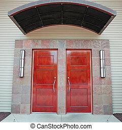 door - unique front door of the public building