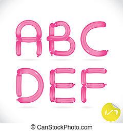 Unique Glossy Balloon Alphabet With Sticker