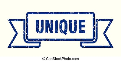 unique grunge ribbon. unique sign. unique banner