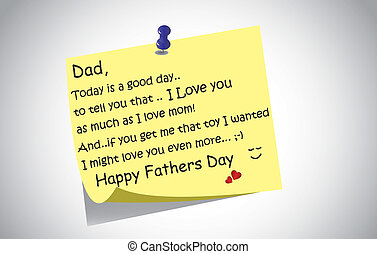 Unique happy fathers day post it note text greetings concept a happy fathers day post it note m4hsunfo