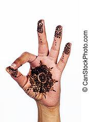 Unique henna tattoo