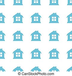 Unique House seamless pattern