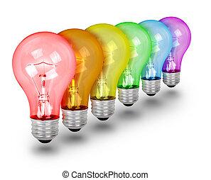 Unique Idea Lightbulbs on White