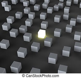 Unique Illuminated Block Shows Standing Out And Different