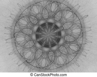 Unique kaleidoscope design. abstract fractal mandala illustration with kaleidoscopically pattern. Abstract background for design