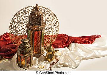Unique Lantern, Ramadan symbols decoration