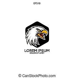 unique logo eagle head vector