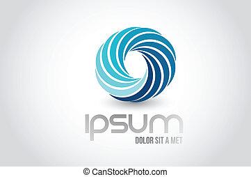 unique logo symbol illustration design over white