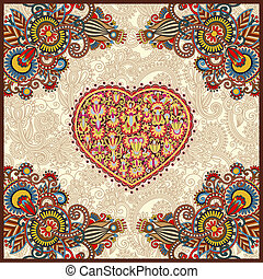 ornamental carpet design for valentines day
