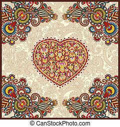 ornamental carpet design for valentines day