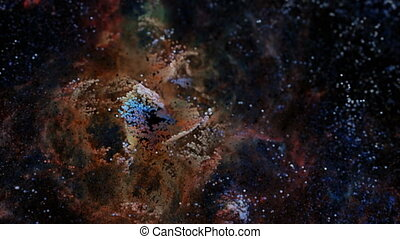 Unique Particle Cloud Render of the Tarantula Nebula. CG...