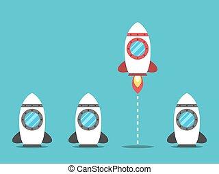 Unique space rocket launching