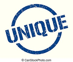 unique stamp - unique blue round stamp