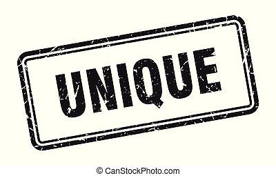 unique stamp. unique square grunge sign. unique