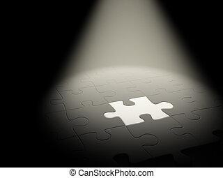 Unique - 3d puzzles of black and white color