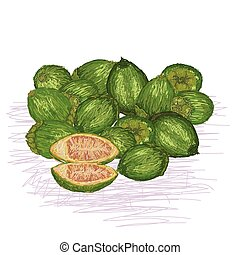 betel nut - unique style illustration of stack of betel nut...