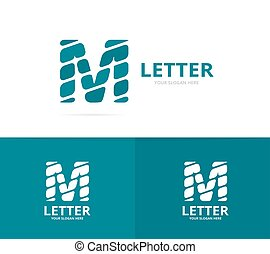 Unique vector letter M logo design template.