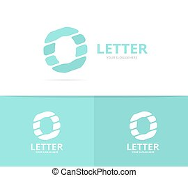 Unique vector letter O logo design template.