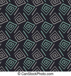 unisex abstract geometric seamless vector pattern in dark colors