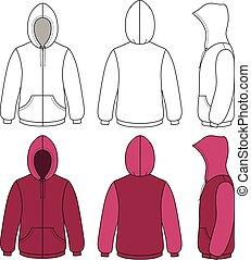 Unisex hoodie template