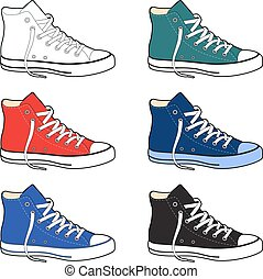 Unisex outlined template sneakers