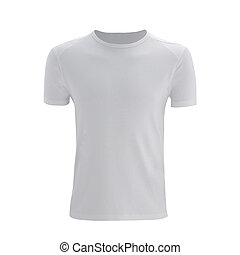 Unisex T Shirt Template Isolated On White Clipping Path