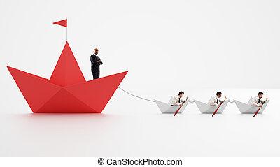unità, è, strength., lavorante, chi, fare, il, ditta, andare, forward., concetto, di, lavoro squadra, e, alliance., 3d, interpretazione
