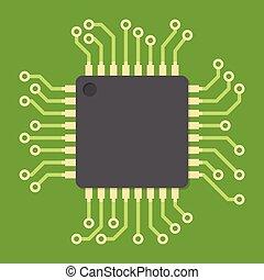 central planche circuit processeur unit imprim. Black Bedroom Furniture Sets. Home Design Ideas