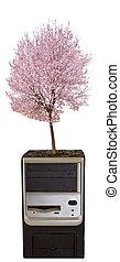 unité centrale traitement, à, arbre
