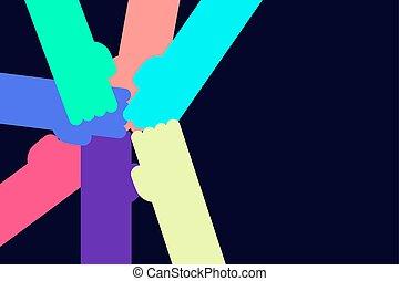 unité, concept, collaboration