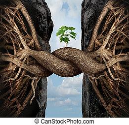 unité, concept, croissance