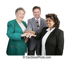 unité, divers, -, equipe affaires