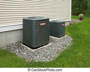 unités, climatisation, chauffage