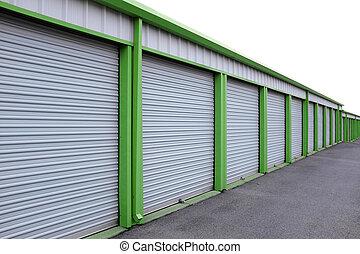 unités, stockage, portes coulissantes