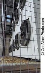 unit., ventilateur, ventilation, format., hvac, rotation., vertical, refroidissement