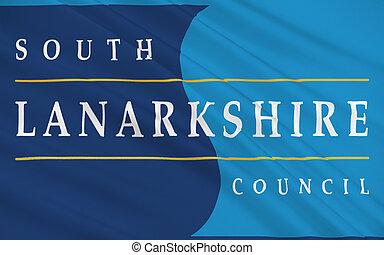 unitary, 32, lanarkshire, skócia, egy, lobogó, hatóság, déli