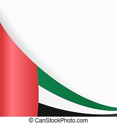 United Arab Emirates flag background. Vector illustration. -...