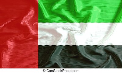 united arab emirates flag closeup of ruffled