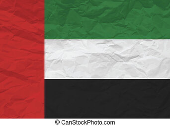 United Arab Emirates flag crumpled paper