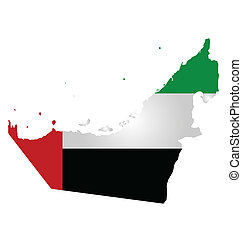 United Arab Emirates Flag - Flag of United Arab Emirates...