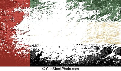 United Arab Emirates flag Grunge