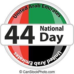 United Arab Emirates flag isolated